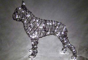 Boston Terrier, 20 inch (Lit) 20 inch x 23 inch x 8 inch