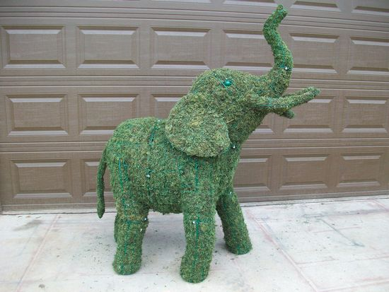 custom made elephant 5 foot topiary