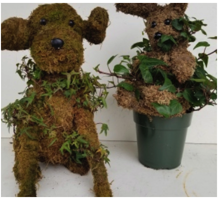 MOSSED IVY ANIMALS IN POT