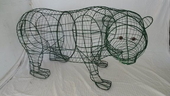bear wire frame topiary