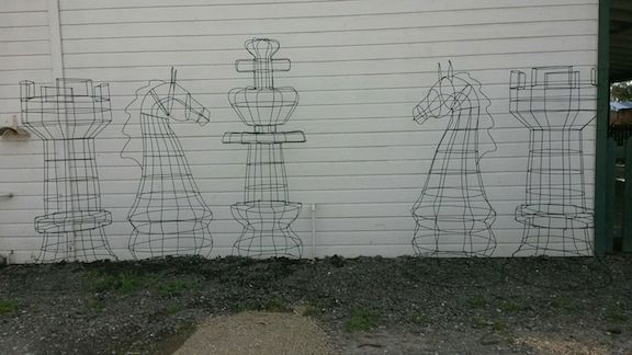 chess set topiary frames - custom made
