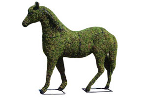Mossed Animal Topiary Forms