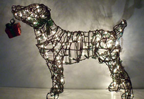 jjack russell lighted topiary