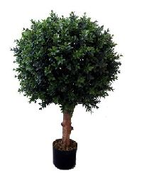 Artificial Topiary Trees, Ball Topiary, 32 inch Hedyotis Single Ball Topiary