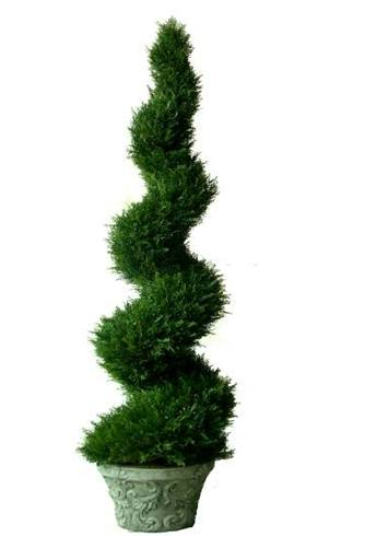 Artificial Topiary Trees, Spiral Topiary, 6 feet   Cypress Spiral Topiary