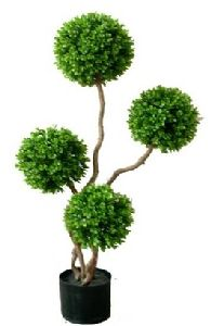 Artificial Topiary Trees, Ball Topiary, 3 feet   Boxwood Plant