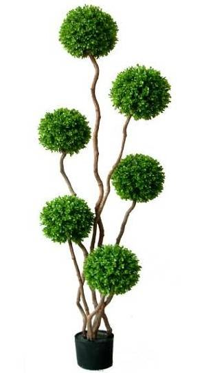 Artificial Topiary Trees, Ball Topiary, 5 feet   Boxwood Plant