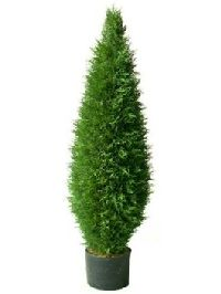 Artificial Topiary Trees, Spiral Topiary, 54 inch Potted Cypress Tower