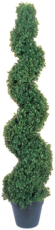 Artificial Topiary Trees, Spiral Topiary, 4 feet   Boxwood Slim Spiral Tree