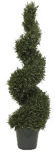 Artificial Topiary Trees, Spiral Topiary, 4 feet   Rosemary Leaf Spiral