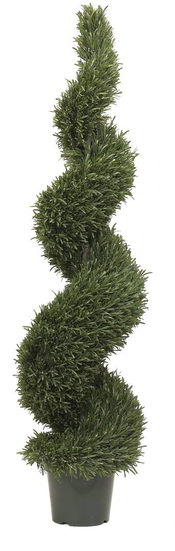 Artificial Topiary Trees Spiral Topiary 5 Feet Rosemary