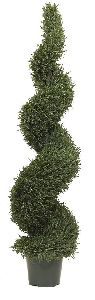 Artificial Topiary Trees, Spiral Topiary, 5 feet   Rosemary Leaf Spiral Tree