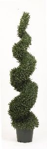 Artificial Topiary Trees, Spiral Topiary, 6 feet   Rosemary Leaf Spiral Tree