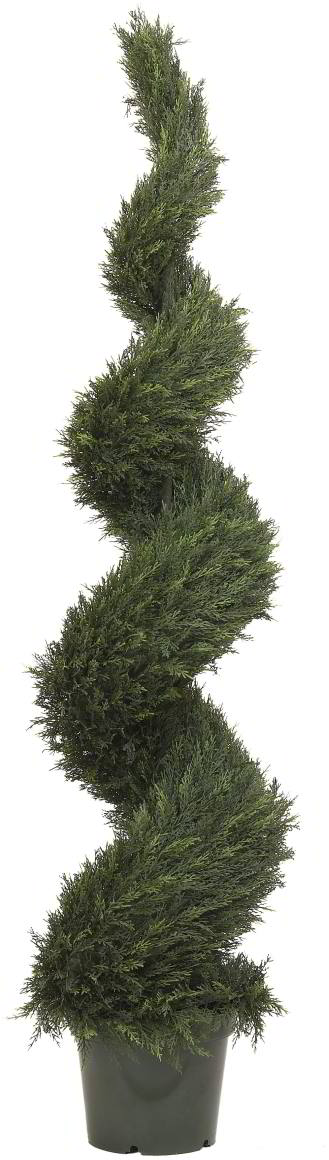 Artificial Topiary Trees, Spiral Topiary, 6 feet   Pond Cypress Spiral Tree