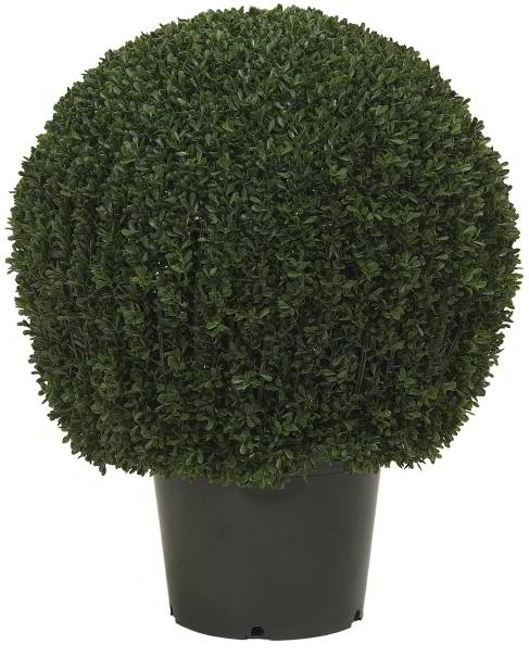 Artificial Topiary Trees, Ball Topiary, 30 inch Mini Tea Leaf Topiary