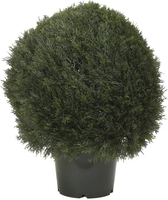Artificial Topiary Trees, Ball Topiary, 30 inch Pond Cypress Topiary