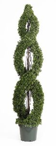 Artificial Topiary Trees, Spiral Topiary, 5 feet   Cedar Double Spiral Topiary