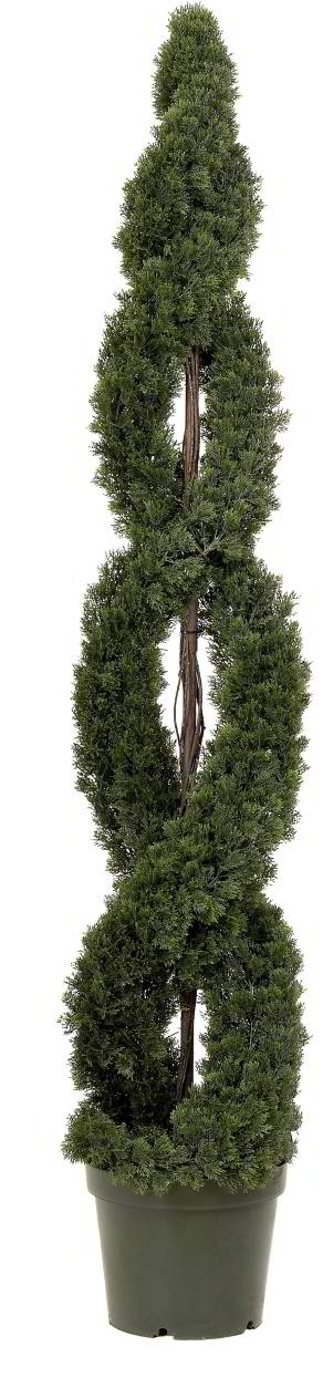 Artificial Topiary Trees Spiral 6 Feet Double Cedar Tree