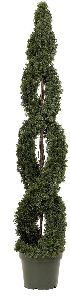Artificial Topiary Trees, Spiral Topiary, 6 feet   Double Cedar Spiral Tree
