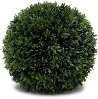 Artificial Topiary Trees, Ball Topiary, 10 inch Podocarpus Ball