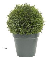 Artificial Topiary Trees, Ball Topiary, 10 inch Cedar Topiary