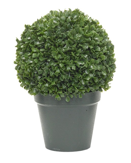 Artificial Topiary Trees, Ball Topiary, 10 inch Leucodendron Topiary