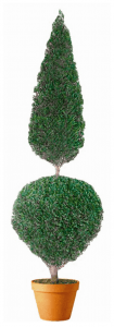 Preserved Cone and Ball Topiary 60 inches in Juniper Foliage