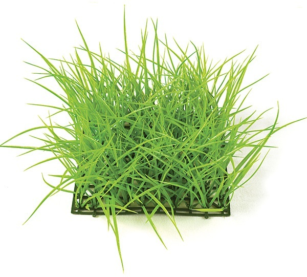 10 inch   Plastic Wild Grass Mat (Light Green)
