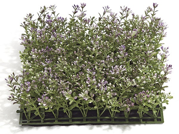 10 inch Plastic Boxwood Mat (Purple and Green)
