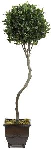 Artificial Topiary Trees, Ball Topiary, 5 feet   Bayleaf Topiary Tree