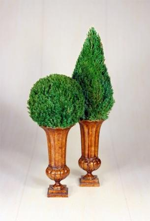 Mantle Top Topiaries Set