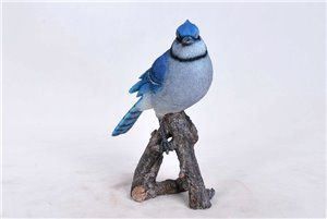 Blue Jay On Branch, 8 inch x 3.75 inch x 9.75 inch