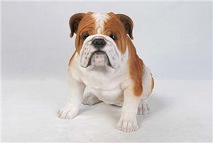 Dog Bulldog large, 18 and 5 Inch x 11 and 5 Inch x 14 and 5 Inch