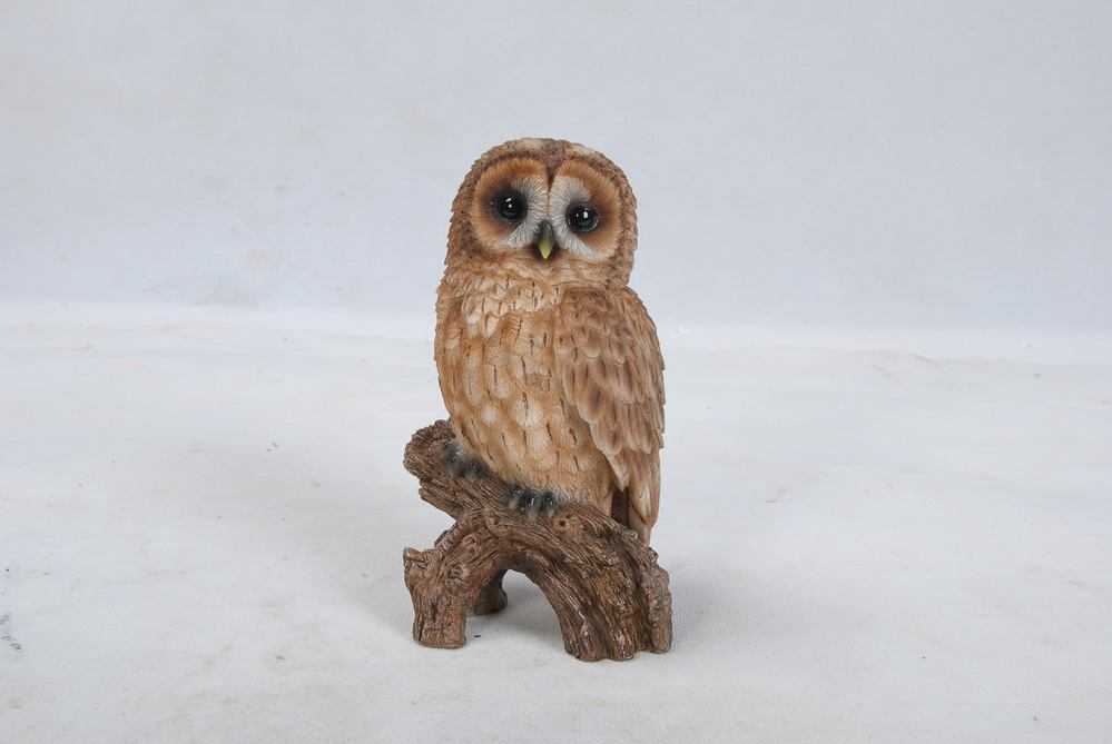 Tawny Owl On Stump Small, 4 and 5 inch x 3 and 75 inch x 6 and 75 inch