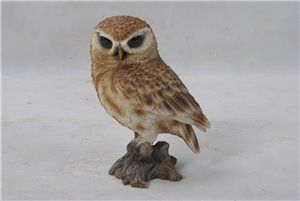 Brown Owl On Stamp Small, 4 and 5 inch x 3 and 5 inch x 6 inch