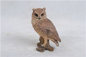 Screech Owl On Stump Small, 4 and 75 inch x 3 and 5 inch x 6 and 75 inch