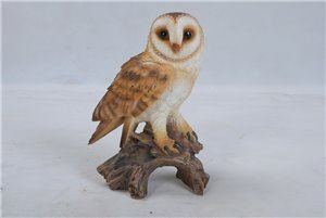 Barn Owl On Stump Small, 5 inch x 3.5 inch x 7.25 inch