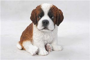 Pet Pals Sitting Saint Bernard Puppy, 6 and 5 Inch x 6 and 3 Inch x 6 and 75 Inch