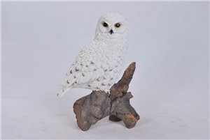Snowy Owl On Stump, 9 and 5 inch x 5 and 75 inch x 13 inch