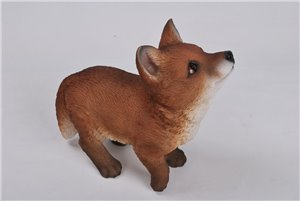 Standing Fox, 8 and 75 Inch High, 9 and 5 Inch x 4 Inch x 8 and 75Inch