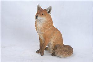 "Sitting Fox 19.25 Inch High, 16.75"" x 12.5"" x 19.25"""