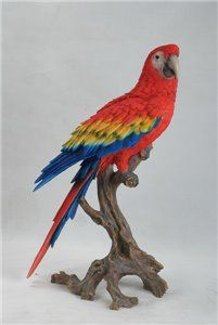 Large Macaw Scarlet, 16 and 5 Inch x 10 and 5 Inch x 28 and 5 Inch