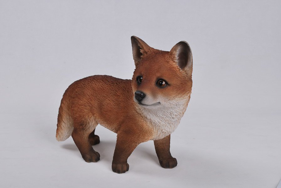 Standing Fox, 11 Inch x 5 and 5 Inch x 9 Inch