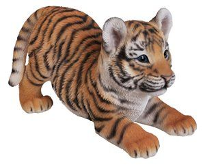 Tiger Baby Playing, 12 Inch x 6 Inch x 7 Inch