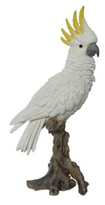 Cockatoo On Branch, 6 Inch x 6 Inch x 15 Inch
