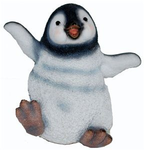 Penguin Sitting Small, 5 Inch x 4 Inch x 6 Inch