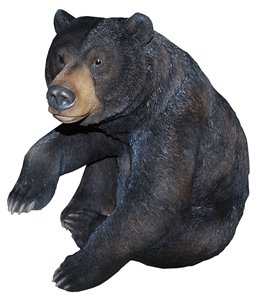 Black Bear Sitting With One Paw Up XL, 25 and 5 Inch x 19 Inch x 24 Inch