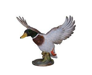 Duck Mallard Duck Flying, 13 Inch x 17 Inch x 12 and 5 Inch