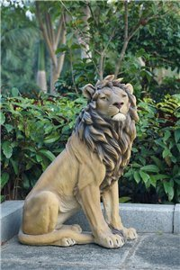 Lion Sitting Large, 21 inch   x 12 inch   x 26 and 75 inch