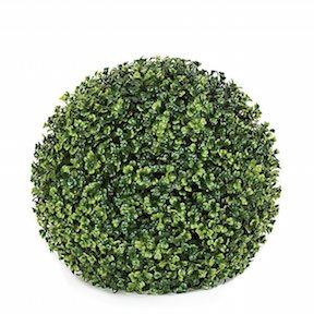 13 Inch Polyblend (Plastic) Boxwood Ball   For Outdoor Use